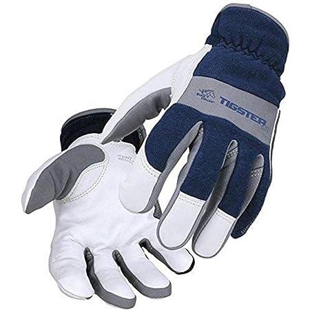Medium Steiner 0260-M SPS Ironflex TIG Gloves Black Grain Kidskin Nomex Back Velcro Cuff