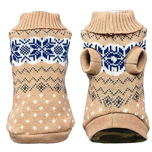 GOODGDN Suéter para Mascotas Perros Gatito, Ropa Cálida de Invierno para Perros y Gatos Chaleco Suéter Cálido para Mascotas Ropa Gatitos Cachorros, XL