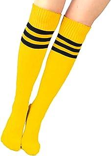 meilleur en ligne style limité enfant Amazon.fr : Chaussettes Hautes Rayées - Jaune