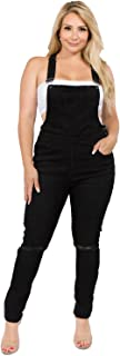 Women's Plus Size Natural Curve Enhancing Slim Fitted Overalls with Comfort Stretch