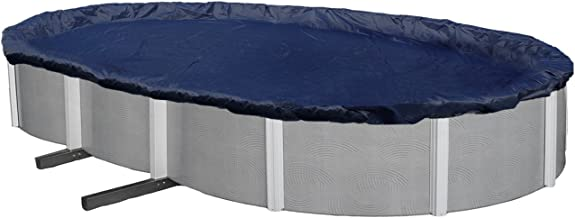 Blue Wave Bronze 8-Year 15-ft x 30-ft Oval Above Ground Pool Winter Cover