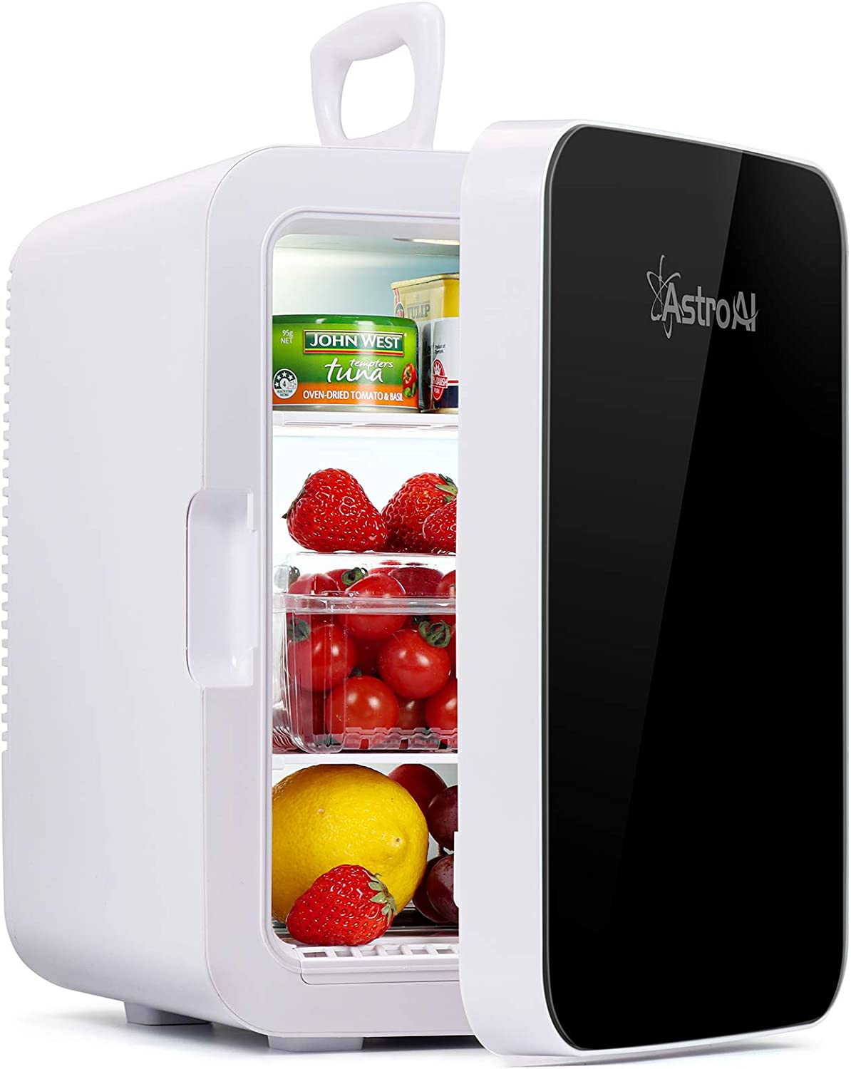 AstroAI Mini Fridge,10 Liter Compact Refrigerator Mini Cooler Warmer with AC/DC Power,Thermoelectric Skincare Fridge Great for Car,Bedroom,Office,Dorm,Travel(Black): Appliances