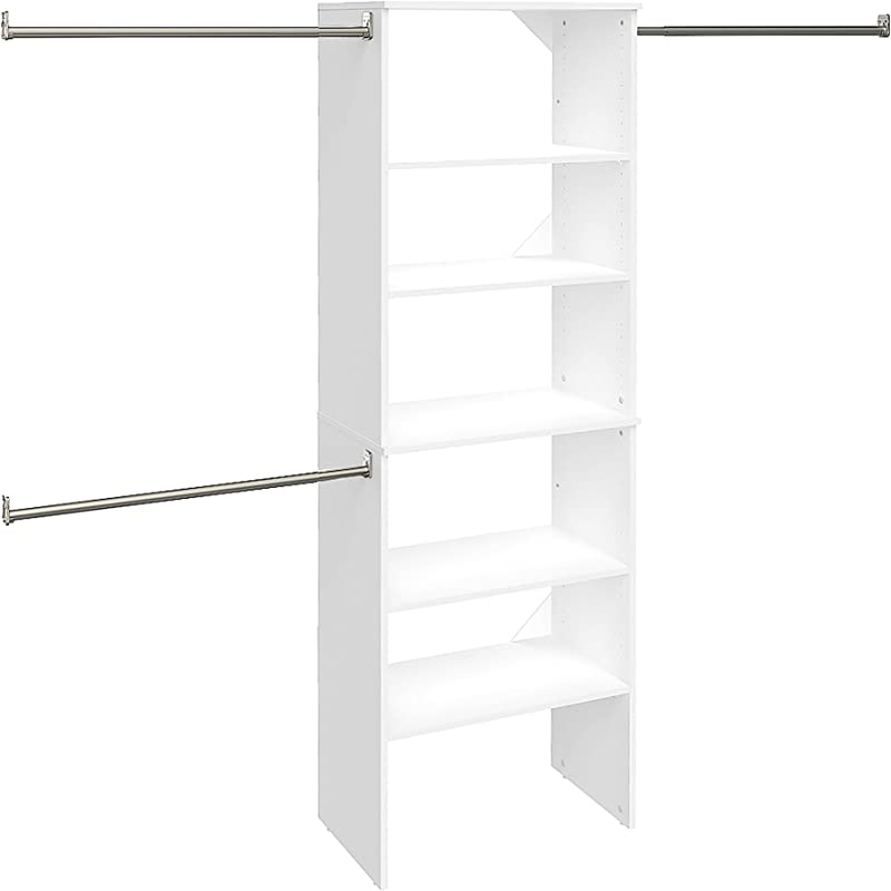 ClosetMaid 24869 SuiteSymphony 25 Inch Starter Tower Kit Pure White