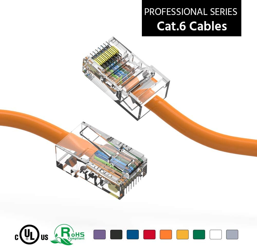 ACCL 20Ft Cat6 UTP Ethernet Network Non Booted Regular dealer 2 Oklahoma City Mall P Orange Cable