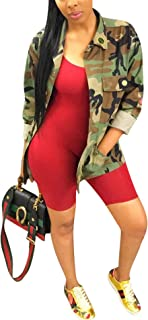Antique Style Women Fashion Military Camouflage Letters Printed BF Coat Safari Jacket Overcoat