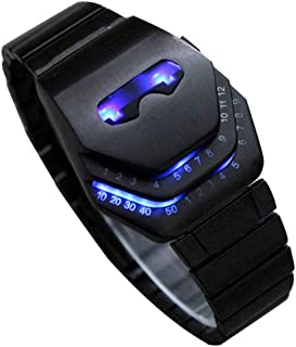 Vavna Men's Peculiar Cool Gadgets Interesting Amazing Snake Head Design Blue LED Watches WTH8021