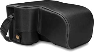 MegaGear MG1660 Ever Ready Leather Camera Case compatible with Sony Alpha A6400 (18-135mm) - Black