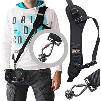 Ocim Camera Strap,Camera Sling Strap with Safety Tether, Adjustable and Comfortable Neck/Shoulder Belt for DSLR/SLR Camera (Nikon, Canon, Sony) Universal Belt Women/Men