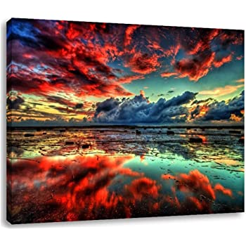 Canvas Wall Art Picture Print Oil Painting Reproduction Lake