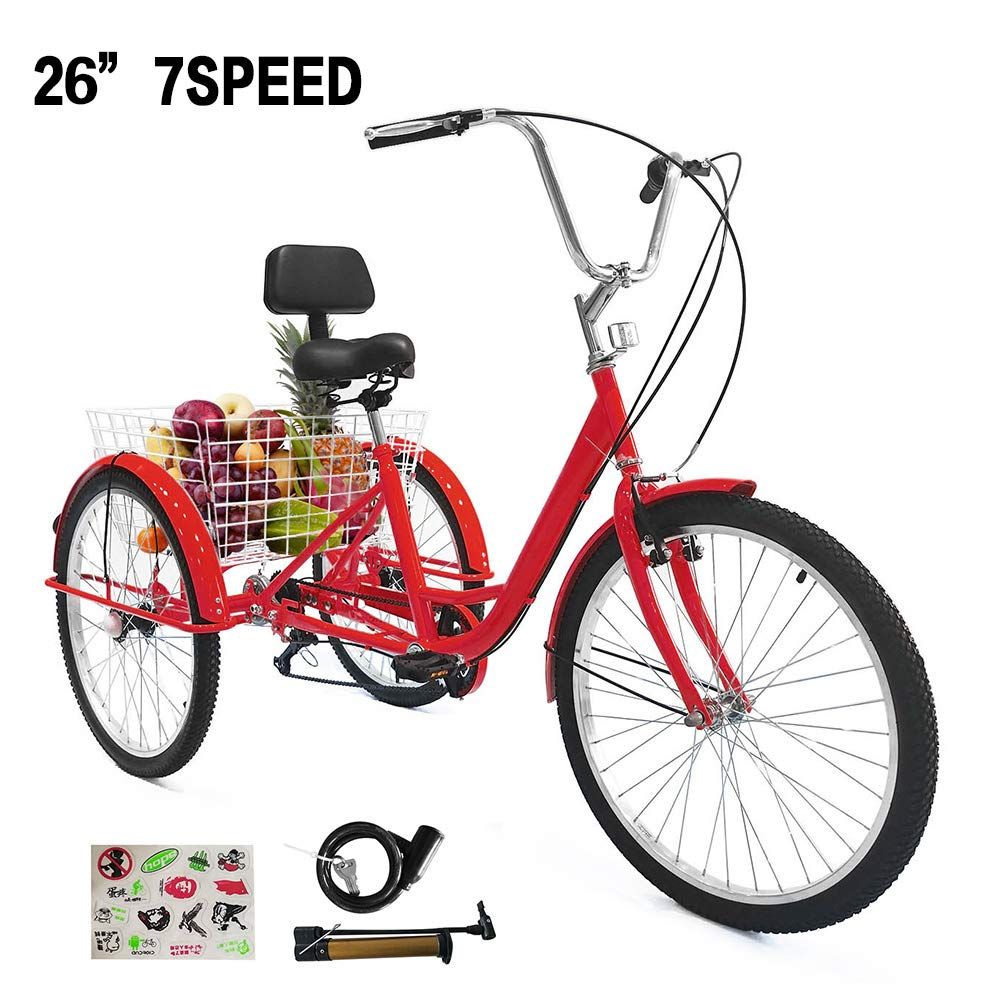 SURPCOS Tricycle Wheeled Bicycle Shopping