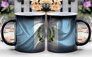 Personalized Gifts Heat Changing Magic Coffee Mug - Guatemala Country Flag National Nation American