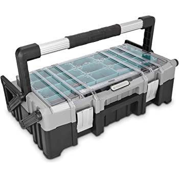Navaris caja de herramientas de plástico y acero - Organizador de ...