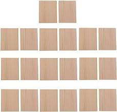 Homyl 20 peças MDF peças de madeira inacabadas placa em branco para hobbies de pirografia artesanal DIY 50 x 40 mm