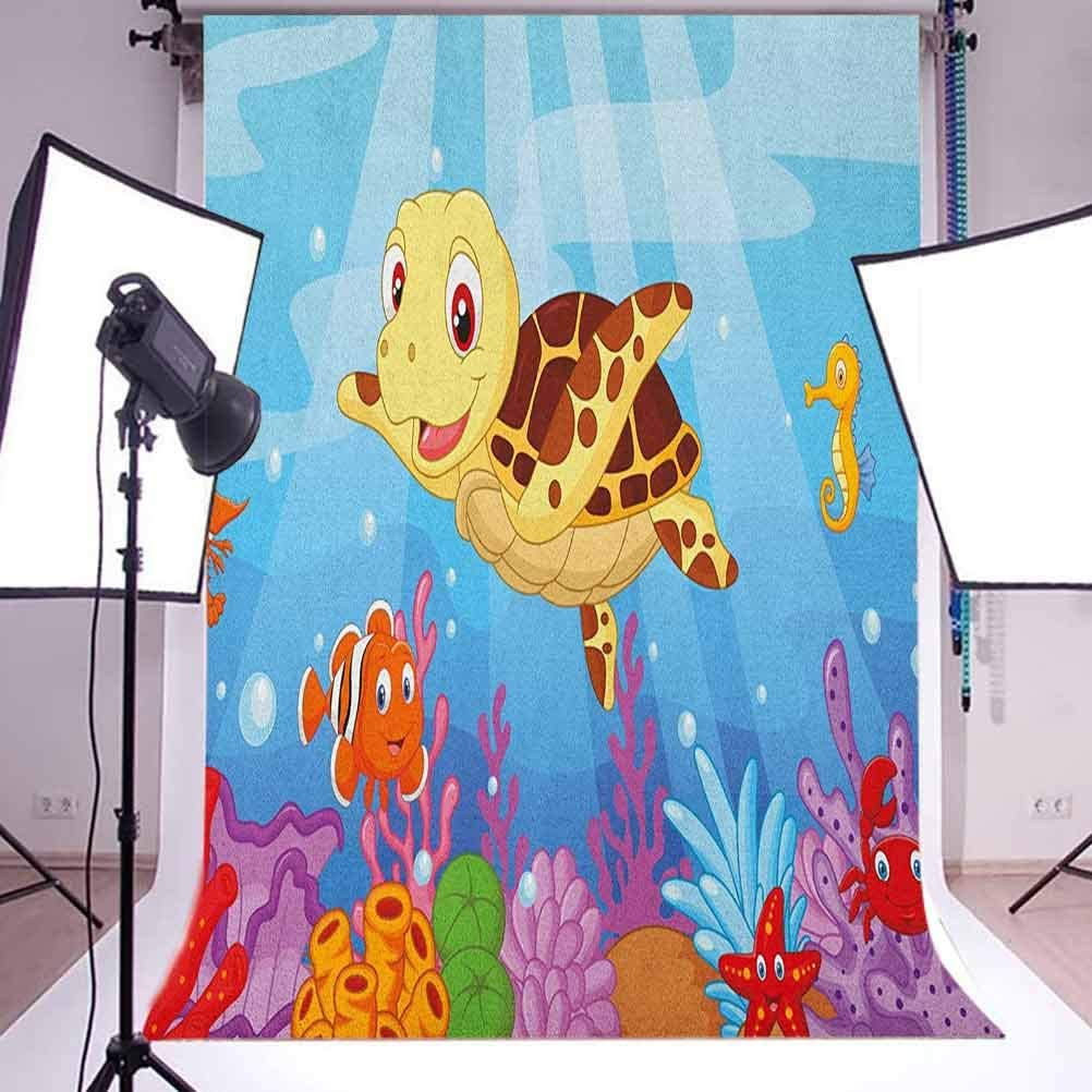 8x12 FT n Vinyl Photography Background Backdrops,Retro Style Arabesque Motifs Mosaic Ceramic Design Traditional Culture Print Background for Selfie Birthday Party Pictures Photo Booth Shoot