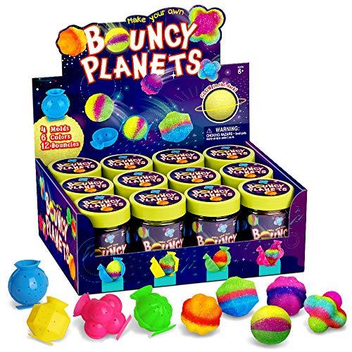 Dr. Daz Nachtleuchtende Flummi Power Planeten Ball Springbälle Set Springendes Spielzeug Experimentierset Geschenk Ab 6 7 8 9 10 Jahre Mädchen Jungen