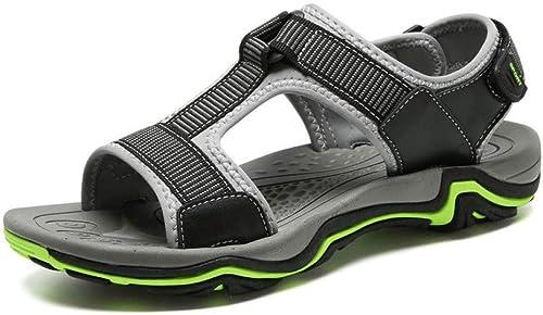 Tanxianlu Sandales Hommes Summer Beach Hommes Sandales Chaussures Décontractées Glissières Glissières Pantoufles  qualité de première classe