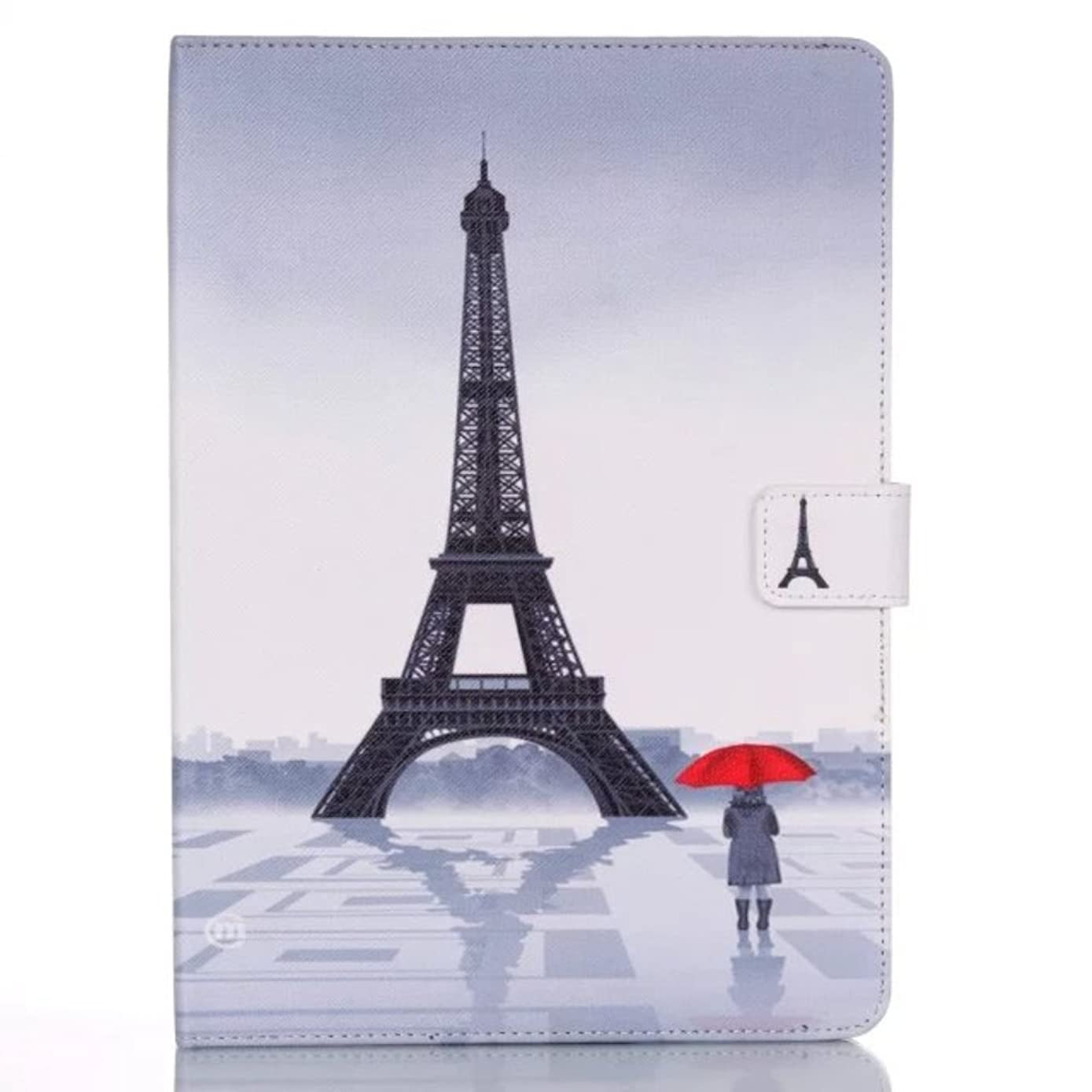 iPad Mini 4 Case, Easytop Wallet Flable Stand Folio PU Leather Wallet Cover Case with Built-in Card Slots Cash Pocket Magnetic Closure for Apple iPad Mini 4 7.9 Inch Tablet (Eiffel Umbrella Girl)