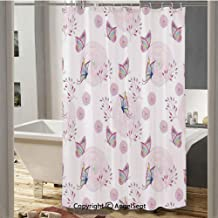 Butterflies and Branches Romantic Spring Retro Faith Optimism Change Fly Theme Bathroom Shower Curtain(37