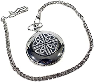 Pocket Watch with Celtic Trinity Knot Design