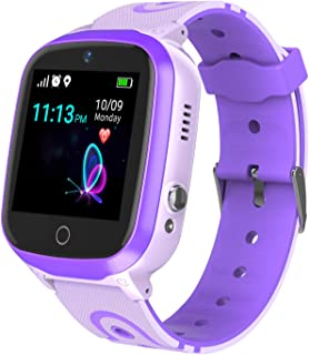 Smart Watch for Kids - Boys Girls Smartwatch Phone with Waterproof GPS Tracker Voice Chat SOS Call Camera Games Alarm Clock Anti Lost Games Touch Screen Watch for Children Students Birthday Gifts