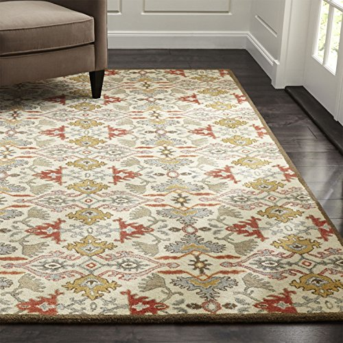 Crate and Barrel Delphine Orange Traditional Persian Handmade 100% Wool Rugs & Carpets (8'x10')