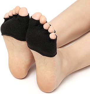 5本指 ハーフ 指穴 開き 5足セット 滑り止め レディース パンプス サンダル ハイヒール ソックス セパレーター ソックス 歩きやすい 靴下 通気性