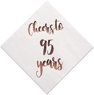 Best 95th birthday plates and napkins Reviews