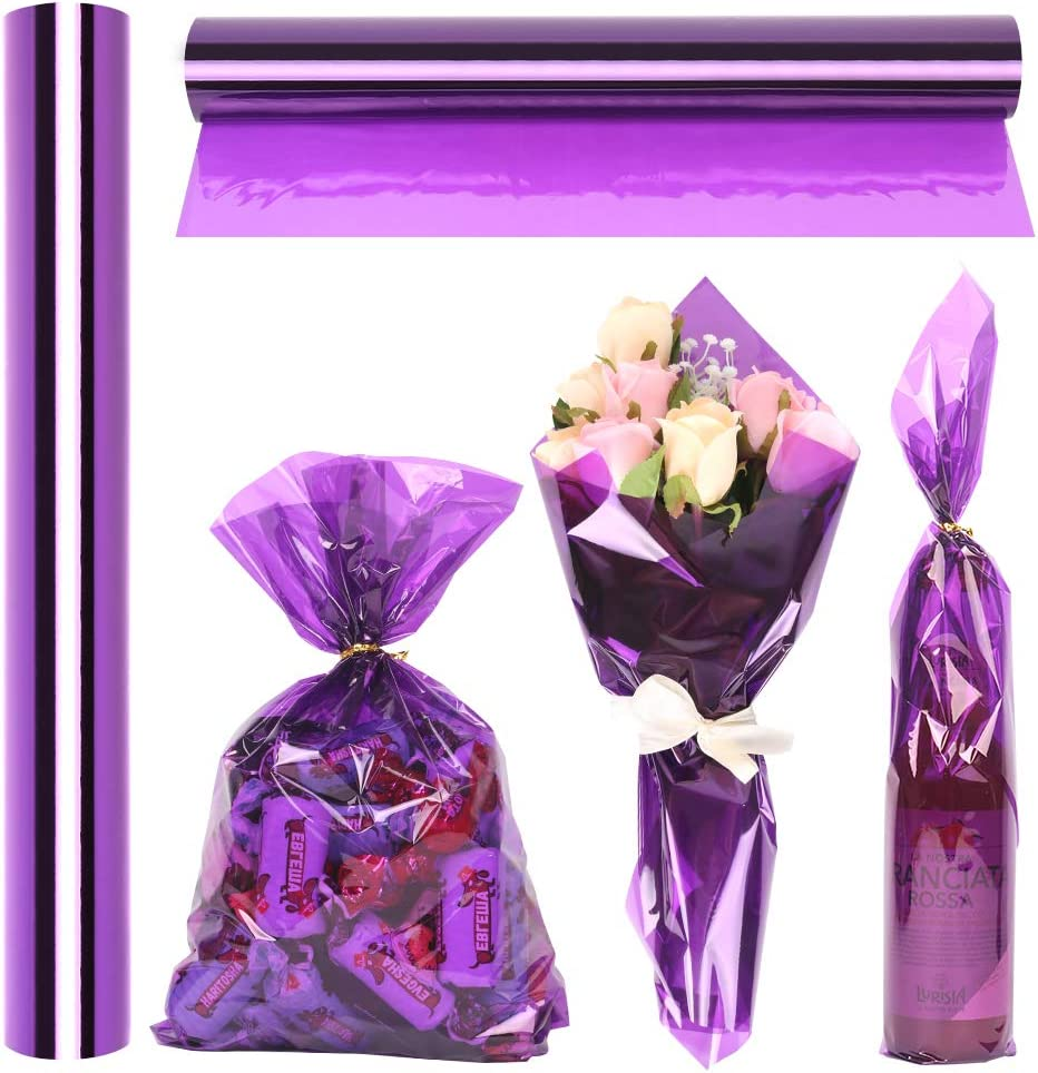 Cellophane Wrapping Rolls Ranking TOP14 Translucent Purple Long 100' 1 Ft Under blast sales
