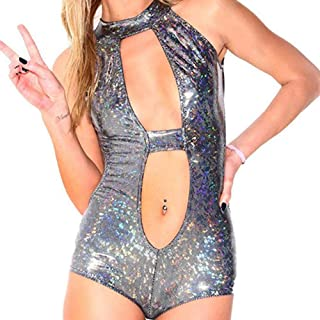 C.C-US Women's One Piece Metallic Swimsuit Glitter Sparking Bikini Bathing Suit Swimwear