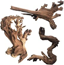 PIVBY Natural Aquarium Driftwood Assorted Branches Reptile Ornament for Fish Tank..