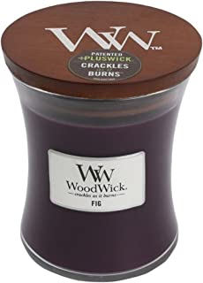 WoodWick FIG Glass Jar Scented Candle, Medium 10 oz.