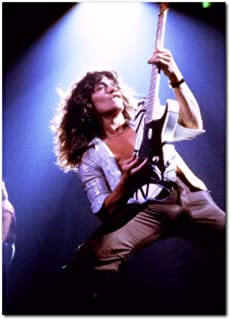 Eddie Van Halen Poster 13x19 Inches | Ready to Frame for Office, Living Room, Dorm | Live Concert Photo 1978