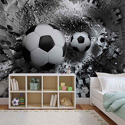 Puzzel voetbal fotobehang wandschilderij schilderij behang (3382FW)