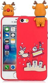 b4a4fc1b344 Silingsan Funda iPhone 5/5S/SE Carcasa Color Caramelo Funda Silicona Suave Funda  Protectora