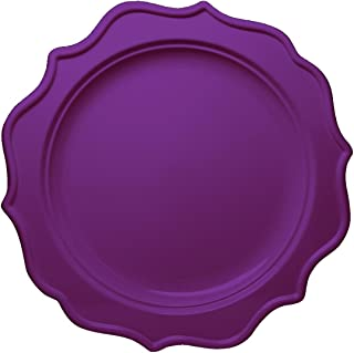 Posh Setting Festive Collection Medium Weight Plastic Purple Colored 10 inch Party Plates (12 Pack)