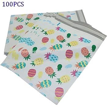 color blanco 240 x 325 mm 24 x 32,5 cm 100 bolsas de pl/ástico para env/íos postales de 9 x 12 pulgadas de polietileno resistente