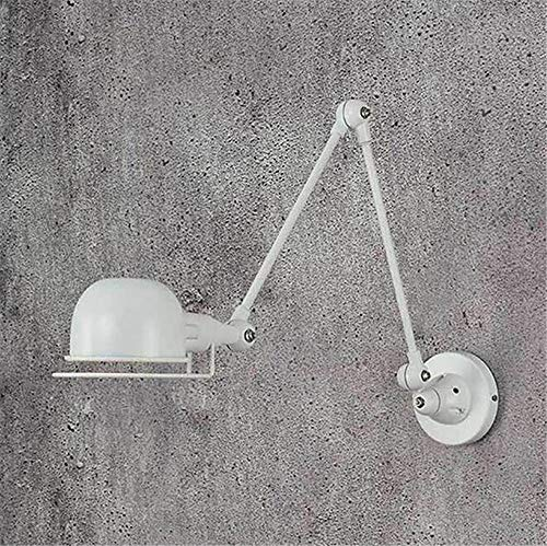 DiseñO Moderno Loft Vintage Industrial Jielde Largo Brazo Ajustable LáMpara De Pared Reminisce RetráCtil E14 LED Luces De Pared Para Dormitorio Sala De Estar, Blanco