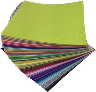 flic-flac 54pcs Felt Fabric Sheet Assorted Color Felt Pack DIY Craft Squares Nonwoven (20cm20cm)
