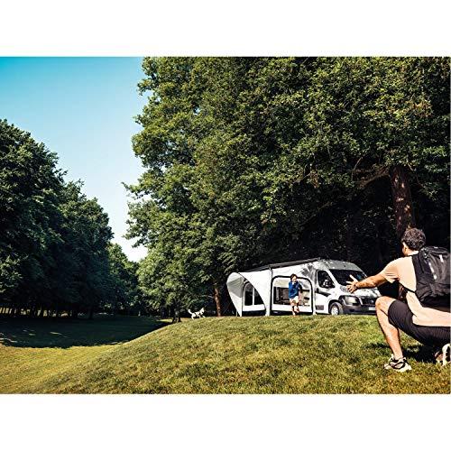 Thule Markisenzelt QuickFit L Anbauhöhe 245-264cm Wohnwagen Vorzelt Länge 300cm Markisenwand Caravan