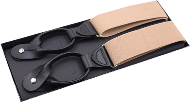 YUNEE Men Suspenders Modern Trousers Pants Monochrome Style Men Y Shape 3.5 X 125 cm