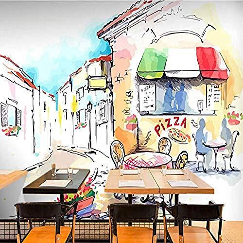 Mural Wood Blackboard Mural Bar Koffie Achtergrond Pizza Cake Hamburger Brood Dessert Behang Muurschildering Grijs Muursticker Border Woonkamer voor Slaapkamer Rose Blauwe muurschildering Kinderen 400 cm.