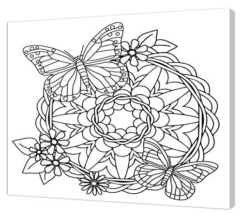 Pintcolor 7804.0 châssis avec Toile imprimée à colorier, Bois de Sapin, Blanc/Noir, 40 x 50 x 3,5 cm