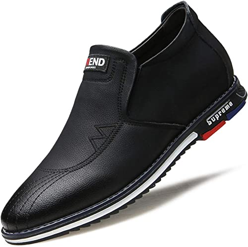 EGS-chaussures Tete Ronde Non-Slip Invisible AugHommester AugHommester Hauteur 6cm Sport Chaussures en Cuir Tendance Ensemble Pieds Lazy Single Chaussures Causal paniers for Hommes Chaussures de Cricket  gros pas cher
