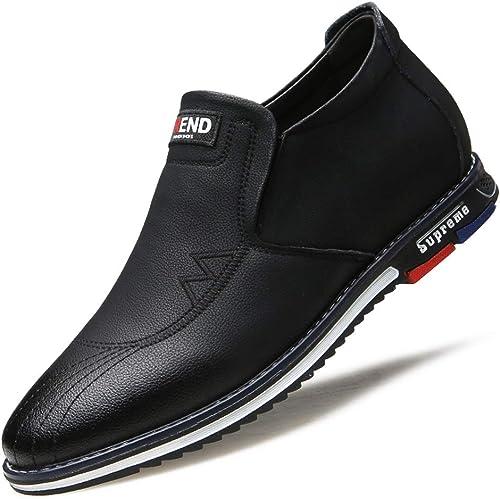 EGS-chaussures Tete Ronde Non-Slip Invisible Invisible Invisible AugHommester Hauteur 6cm Sport Chaussures en Cuir Tendance Ensemble Pieds Lazy Single Chaussures Causal paniers for Hommes Chaussures de Cricket c93