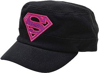 DC Comics Supergirl Superman Girl's Cadet Hat Baseball Cap, Black