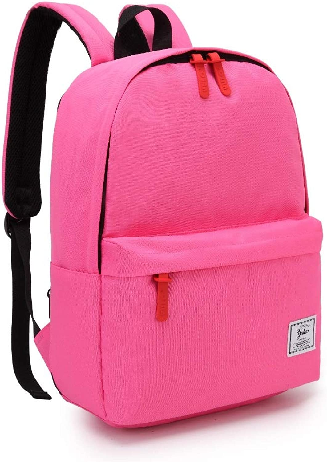 School Backpack, Unisex Classic Lightweight Water Resistant College Rucksack Travel Backpack Fits 14Inch Laptop (color   Pink)