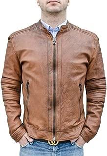 Vintage Men's Genuine Leather Biker Jacket