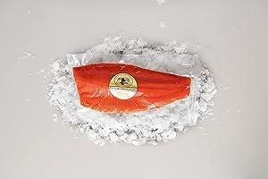 The Popsie Fish Company Wild Alaskan Sockeye Salmon Fillets 10lbs Box - Fillets (7-8 Whole Fillets)