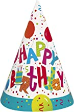 Birthday Jamboree Partyhüte zum Geburtstag, Aufschrift Happy Birthday, 8 Stück