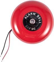"Ctzrzyt 24V 25mA 95db 150mm 6"" Diameter Metalen Elektrische Ronde Alarm Bell Rood"
